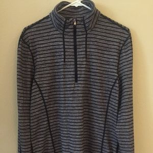 Lululemon Gray and Black Small ¼ Zip Sweatshirt